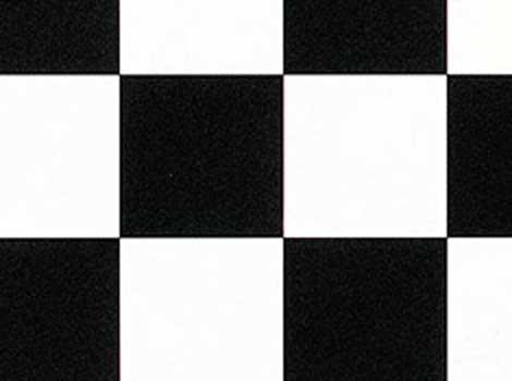 PVC Design - Schachbrett, schwarz / weiß