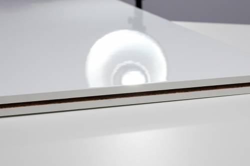Fastfloor - weiß, hochglanz - 1,00 x 1,00 m