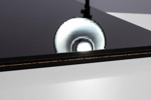 Fastfloor - schwarz, hochglanz - 1,00 x 1,00 m