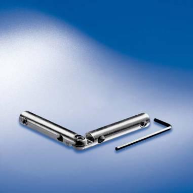 Schienenverbinder 2D mit vertikalem Gelenk,