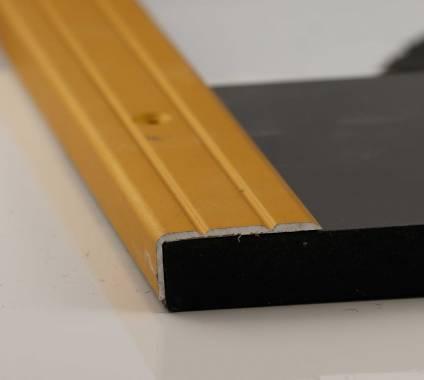 Aluwinkel Premium - Alu gold eloxiert, 10 mm hoch
