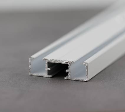 Vorhangschiene weiß pulverbeschichtet
