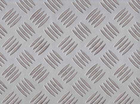 PVC Design Riffelblech, silber